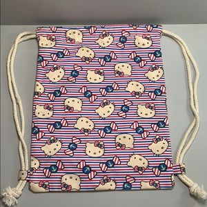 Hello Kitty sailor drawstring backpack tote